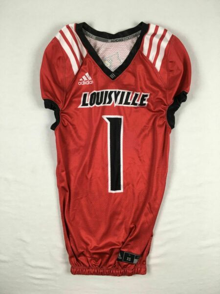 Louisville Cardinals adidas Jersey Men#x27;s Red Game Jersey Used Multiple Sizes