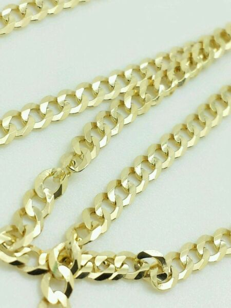 14K Solid Yellow Gold Cuban Chain Necklace 2.4MM 16quot; 18quot; 20quot; 22quot; 24quot; 26quot; 28quot; 30quot; $119.99