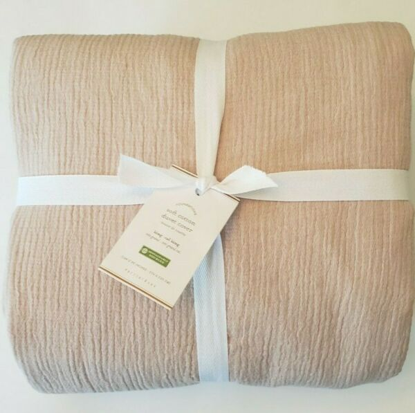 Pottery Barn Soft Cotton King Duvet Cover Dusty Rose NWT $129.00