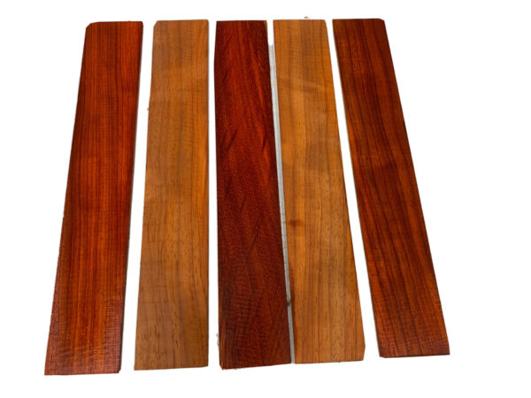 LOT OF 5 PIECES PADAUK THIN STOCK BOARDS LUMBER CRAFTS WOOD 1 8quot; X 2quot; X 12quot;