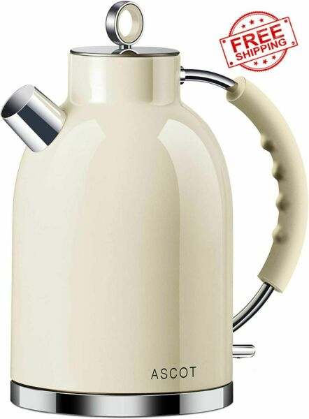 Electric Teapot Kettle Stainless Steel Tea Coffee Hot Boiler Auto Shut Cordless $90.81