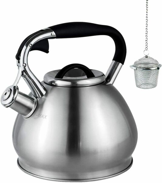 Whistling Teapot Kettle Stainless Steel Tea Coffee Hot Boiler Stovetop Induction $48.85