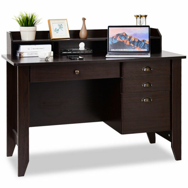 Computer Desk PC Laptop Writing Table Workstation Student Study Furniture Brown $219.19