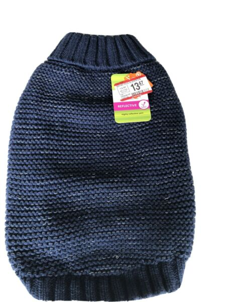 NWT TOP PAW Dog Reflective Knit Sweater Size Extra Large Blue NEW $7.50