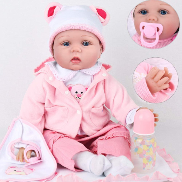 CHAREX Reborn Baby Dolls Girl 22 Inch Realistic Baby for Kids Weighted Newborn $61.23
