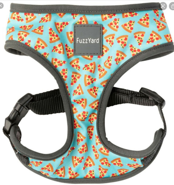FuzzYard PIZZA Multi Color Chest Plate HARNESS Puppy Dog XLARGE $24.50