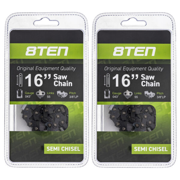 Chainsaw Chain for Stihl MS170 MS180 017 019 023 16 Inch .043 3 8 55DL 2 Pack $18.00