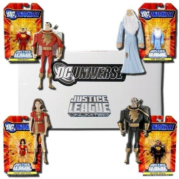 Justice League Unlimited JLU Shazam Captain Marvel 4 Pack Sealed in mailer MIP
