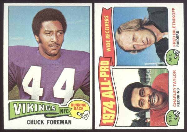 1975 TOPPS FOOTBALL YOU PICK NUMBERS #201 #400 NMMT OR BETTER $1.25