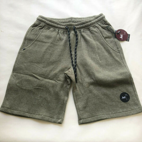 Lost Enterprises Men#x27;s Fleece Shorts Siesta Heather Army Green Size M NWT $15.19