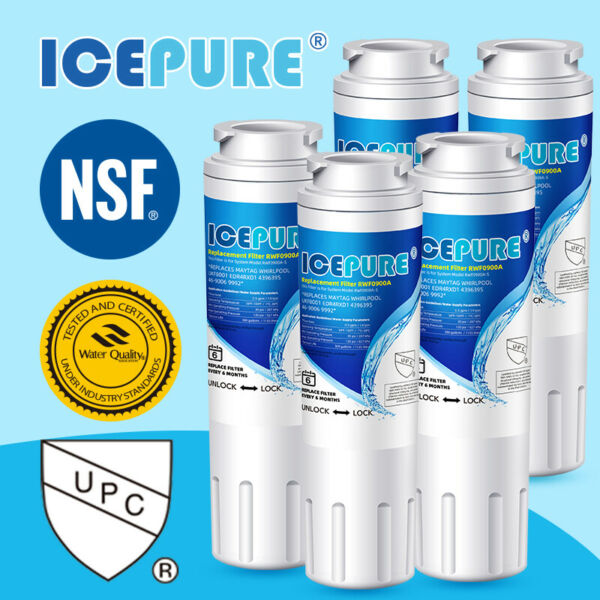 Fit For HDX FMM 2 GF 8001 EBL7770 PG 8001 PL 400 Water Filter 5 Pack Icepure $35.09