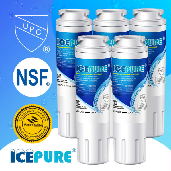Compatible With AQF UKF8001 FL RF07 WS607B MB UKF8001 P Water Filter 5 Pack $38.99