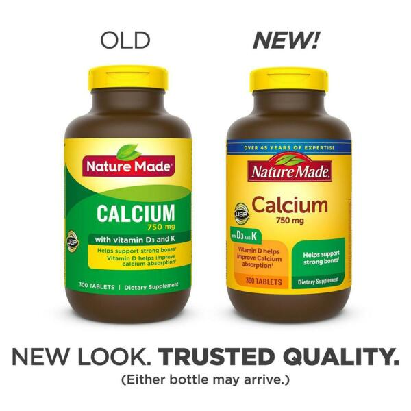 Nature Made 750mg Calcium Tablets 300 ct. $27.99