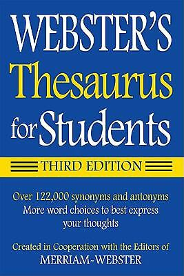 Webster#x27;s Federal Street Press Thesaurus for Students 3rd Edition Paperback G