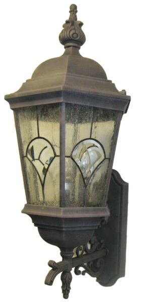 Autumn Gold Cast Aluminum Exterior Wall Light Orig $390