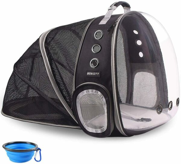 Pet Backpack Carriers Foldable for Cats Puppy Dogs and Birds Airline Approved $37.89