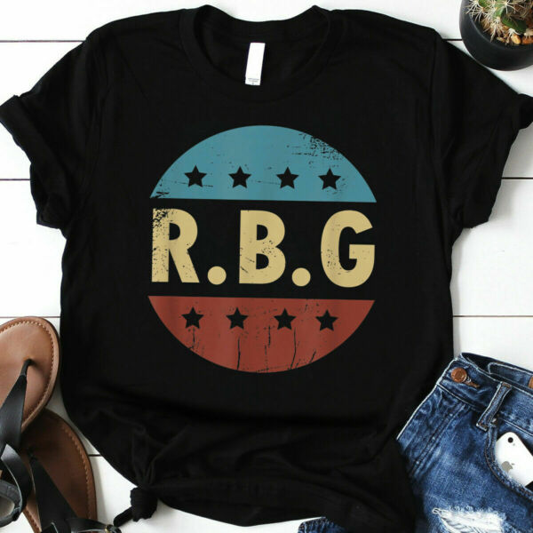 Vintage Notorious RBG Ruth Bader Ginsburg fan Women Gift T Shirt Size S 3XL