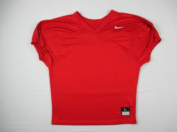 Nike Football Jersey Men#x27;s Red Poly Used Multiple Sizes