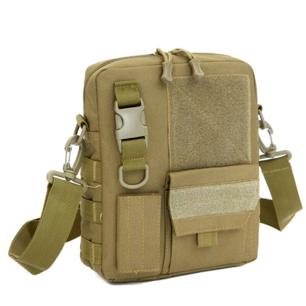 3.5L Molle Tactical Messenger Bag Mens Military Waterproof Nylon Crossbody Packs