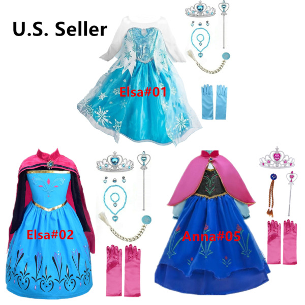 Queen Princes costume Party Dress up set For Kids Girls With Accessories 3 Style $22.98