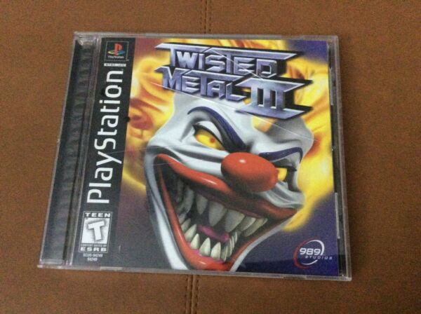 Twisted Metal III 3 Sony PlayStation 1 1998 PS1 Black Label