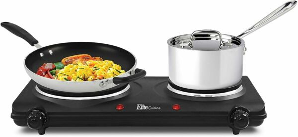 Small Electric Stove Top 2 Burners Range Double Hot Plate Portable Countertop $40.99