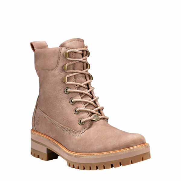 Timberland Women#x27;s Courmayeur Valley 6 inch Boots in Grey Nubuck TB0A1RQX $100.00