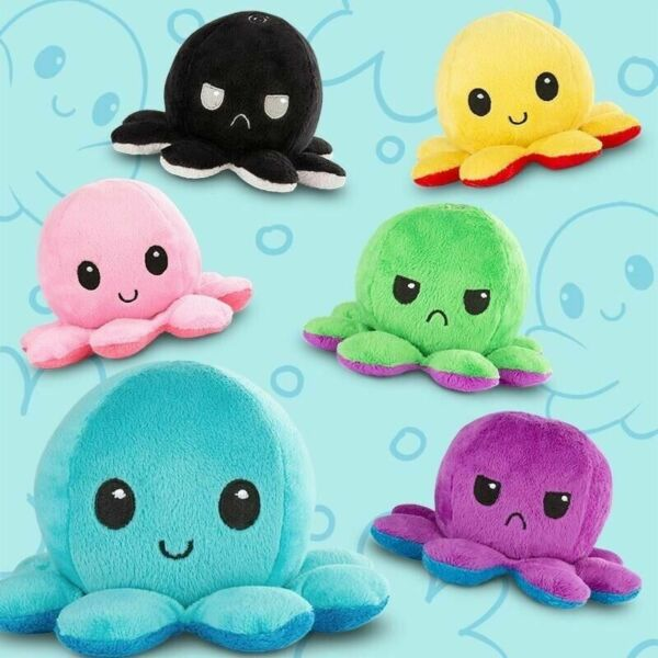 Double Sided Flip Reversible Octopus Plush Toy Squid Stuffed Doll Toys for kids $12.99