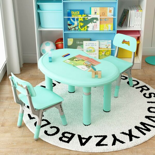 Height Adjustable Kids Table Chair Set Children Furniture For Toddlers Learning $54.54