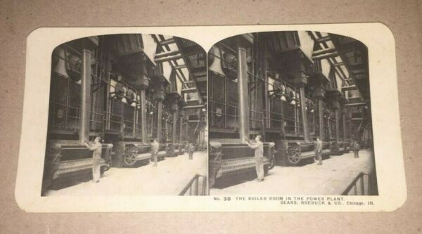 VINTAGE STEREOVIEW BOILER ROOM POWER PLANT SEARS ROEBUCK amp; CO CHICAGO ILL. $4.00