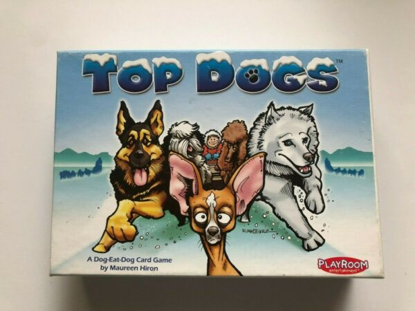 2005 Playroom TOP DOGS A Dog Eat Dog Card Game Alaska Iditarod Dog Sled Game $17.99