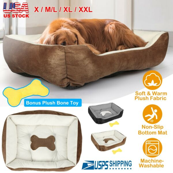 Large Pet Dog Cat Bed Puppy Cushion House Soft Warm Kennel Mat Blanket 5 Sizes $23.56