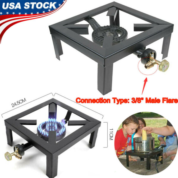 Outdoor Propane Camping Stove Portable Single Burner Cast Iron LPG BBQ Cooker US