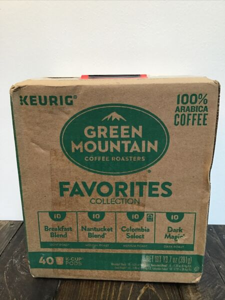 Keurig Green Mountain Favorites Collection 40ea NEW SEALED READ