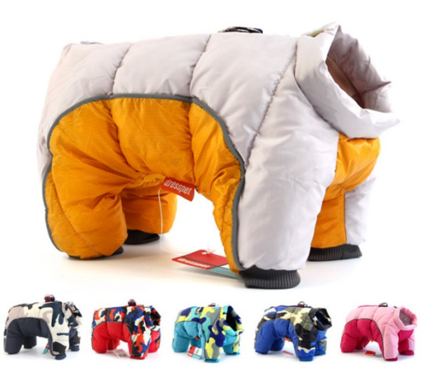 Warm Winter Pet Clothes Dogs Warm Jacket Waterproof Dogs Clothing Puppy Costume $18.99