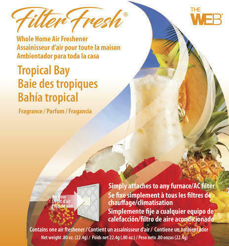 Filter Fresh Whole Home Tropical Bay Air Freshener AC Furnace Pad House Scent $11.09