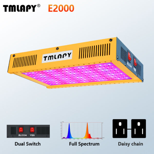 TMLAPY 1000W COB LED Grow Light Full Spectrum for All Indoor Plant Veg Flower