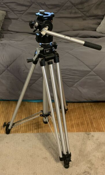 Bogen Manfrotto 3046 Studio Pro Heavy Duty Tripod 3063 Fluid Video Head