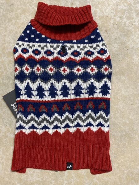 HOTEL DOGGY WINTER THEME TURTLE NECK SWEATER Puppy Dog SMALL $18.50