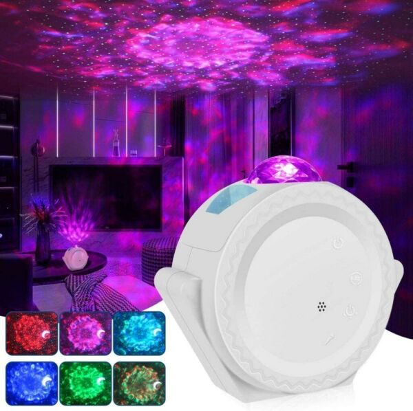 LED Starry Sky Projector Light Ocean Wave Star Sky Galaxy Night Light Mood Lamp