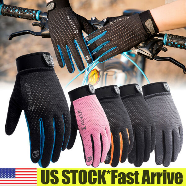 Bike Riding Full Finger Glove Racing Motorcycle Gloves Cycling Bicycle BMX MTB $7.53