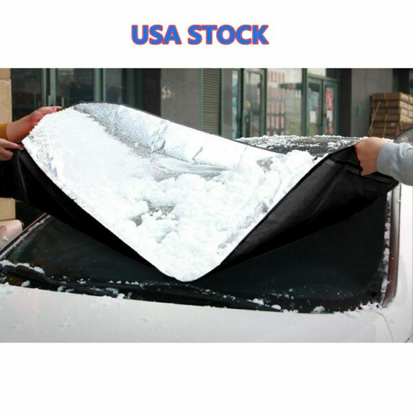 Windshield Cover Snow Ice for Car Frost Guard Winter Protector Auto Osculum Type $5.98