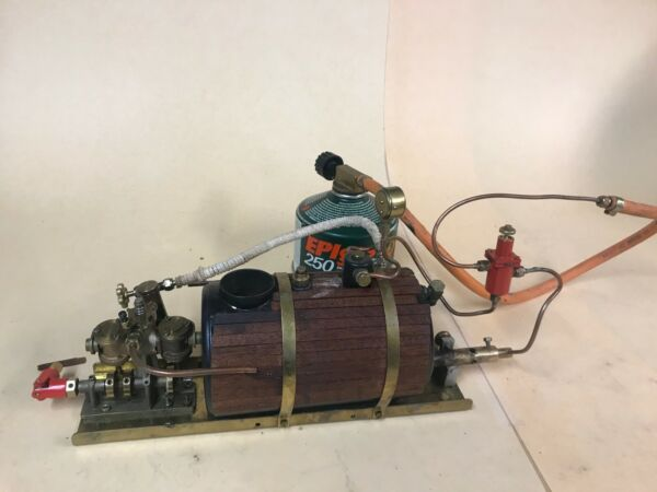 Cheddar Models Live Steam Puffin Marine Engine incl boiler pressure regulator $650.00