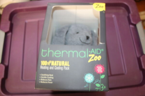 "Thermal Aid Zoo Rabbit ""Baxter"" 100% Natural Heating Cooling Pack Gray sk9 $9.51"