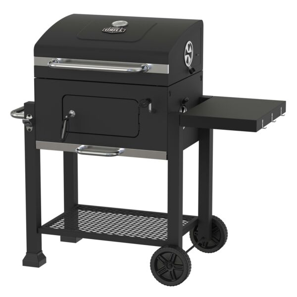 BBQ Charcoal Grill Smoker Outdoor Pit Patio Cooker Heavy Duty 24 Inch Black New