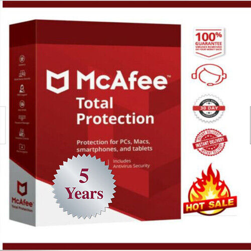 McAfee Total Protection 2020🔥1 Device 5 Years🔥✅instant delivery📩 $7.99