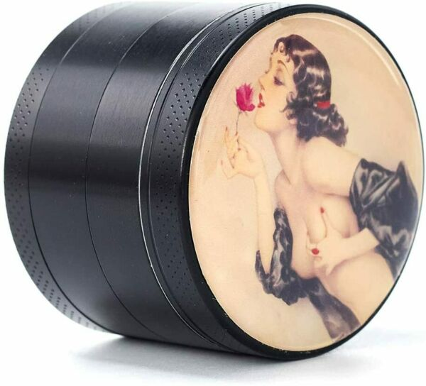 Pin Up Girl LARGE 2.2quot; wide Premium Titanium herb spice Grinder ONE 1 USA S H $14.95