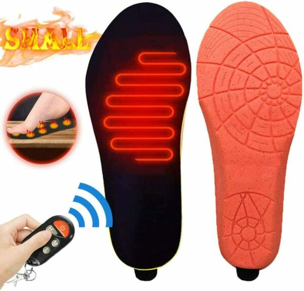 Electric Heated Insoles Foot Warmer 3 Heat Levels w Remote Control Skiing Hiking $29.99