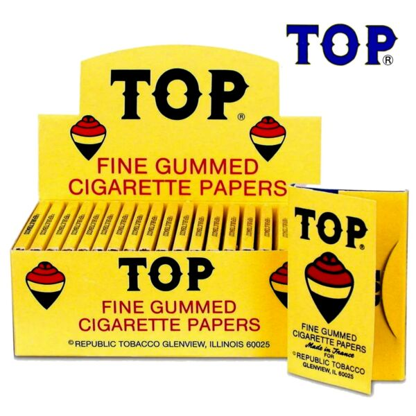 Full Box TOP Single Wide Rolling Papers 24 Booklet 100 Paper Each