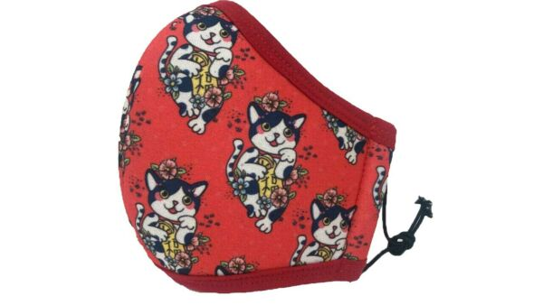 Red Face Mask Chinese Cat For ADULT Protection Washable Reusable Adjustable Pet $5.98